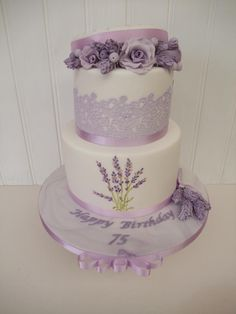 Vintage Hatbox Cake with Lavender  by The Stables Pantry