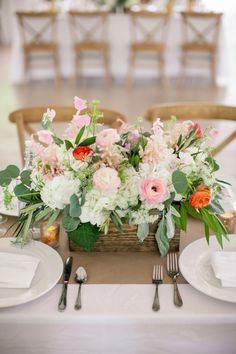 How pretty is this centerpiece: http://www.stylemepretty.com/2014/08/21/romantic-outdoor-wedding-at-the-winfield-inn/ | Photography: The Nichols - http://nicholsphotographers.com/