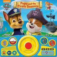 Pups and the Pirate Treasure Paw Patrol Steering Wheel Sound Book Paw Patrol Books, Paw Patrol Pups, Perspective Pictures, My Busy Books, 10 Year Old Boy, Toys Uk, Nickelodeon, Pirate Treasure, Puzzle Books