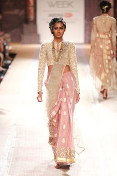 Sari by Anju Modi at Lakme Fashion Week 2014