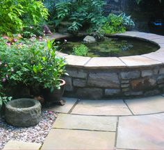 water feature cottage garden - Google Search