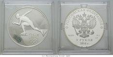 RITTER Russland, 3 Rubel 2014, Olympische Spiele Sotchi 2014, PP #coins #numismatics