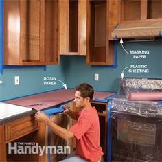 How to Spray Paint Kitchen Cabinets - Another great, thorough tutorial. They also used a paint sprayer (with paint instead if lacquer).