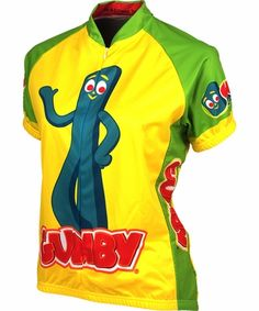 Gumby Women s Cycling Jersey by Retro Women s Cycling Jersey 462131847