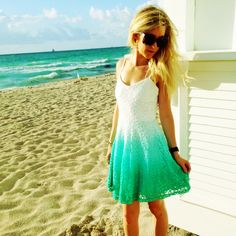 Dip-dye perfection! Ah-MAZING new Dip-Dye Dress available online in mint(pictured) and in-store at 4th in tan for $39.99! www.sophieandtrey.com