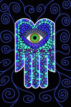 Mosaic Hamsa II by *greenbirdcreative