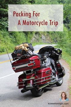 Packing tips for an overnight motorcycle trip . . . from a girl's perspective. www.kcweekendgirl.com/packing-motorcycle-trip/