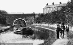 Carnforth, Barge On The Canal 1918.