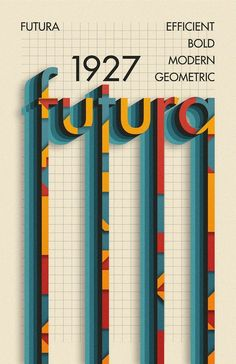 Poster I made for the typeface Futura : graphic_design