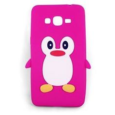 rose vif Mignon Pingouin Manchot Etui Coque Housse Pour Samsung Galaxy Grand Prime
