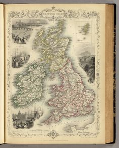 1851 The British Isles. (with) inset map of the Shetland Islands. The Illustrations by John Salmon & Engraved by Robt. Wallis. The Map Drawn & Engraved by J. Rapkin.