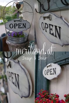 A new shop sign. New Shop, Handmade Wedding, Shop Signs, Wedding Signs, Garden, Design, Home Decor, Wedding Plaques, Garten