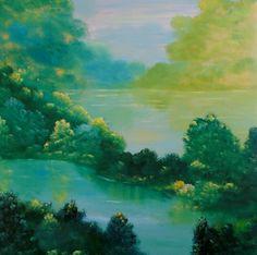 "Saatchi Art Artist David Snider; Painting, ""Creek Lake"" #art"