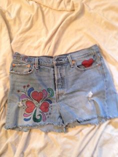 0d8599c154b5c Distressed Womans Size 32 Levis Button Fly Hippie Woodstock Festival Shorts   fashion  clothing