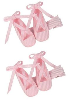 Hip Girl Boutique 2pc Set Ballerina Hair Bow Clips--Pink Ballet Shoes- One Size HipGirl. $5.99. Save 25%!