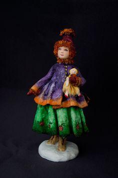 «Анечка с куколкой»Проект новогодних кукол и игрушек «ЗИМНИЕ ЗАБАВЫ» Елена Мисюна и Елена Золотова