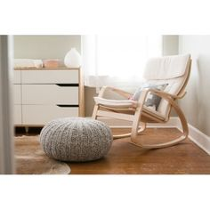 IKEA POÄNG Rocking-chair, birch veneer, 40x70 cm