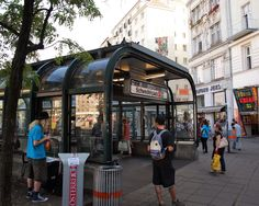 https://flic.kr/p/LNqTs6 | Vienna | Schwedenplatz subway station. The U1 and U4 lines go through here. Our guide on the Jewish tour prevailed on Janet to take the subway.