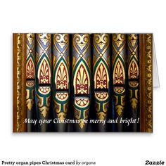 Pretty organ pipes Christmas card