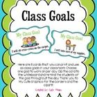 Here are 8 cards that you can print and use as class goals in your classroom. Choose one goal to work on per day. Clip the card to the whiteboard a...