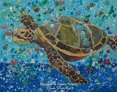 Elizabeth St.Hilaire Nelson paper paintings
