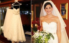 Oscar de la Renta dress of the bride Marilia Opice
