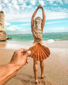 Foto na praia criativa / foto criativa na praia / ideias de foto para fazer na praia / foto tumblr na praia / #praia #foto #tumblr #instagram #beach 📸 @pricyllapedrosa