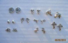 Rose Gold Jewelry, Enamel Jewelry, Antique Jewelry, Sterling Silver Cross, Sterling Silver Earrings, Sugar Skull Earrings, Stainless Steel Earrings, Earring Backs, Jewelry Making