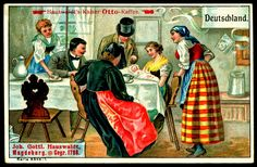 Kaiser-Otto Coffee, Magdeburg, Germany ~ Coffee Drinkers c1910 ~ Germany
