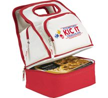[2170-21] Color Dip Dual Compartment Lunch Cooler - Leed's Promotional Products