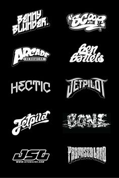Various Logos created over the past couple of years. Logo Typo, Dj Logo, Typographic Design, Graphic Design Typography, Lettering Design, Typography Served, Typo Design, Design Logo, Branding Design