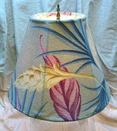 Saw several lampshades from vintage bark- cloth in a shop in Hanalei.....drool!