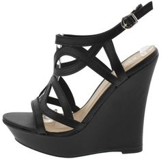 POMPEY83 BLACK CUT OUT WEDGE