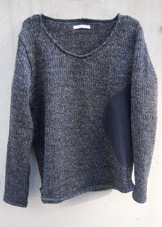 zero - Circular Cut Sliver Pullover Knit - Charcoal Black - 23,000JPY