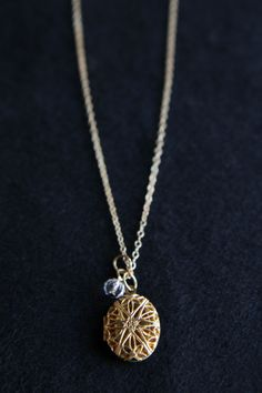 Heirloom Locket Necklace. Never forget your loved ones while wearing this keepsake necklace.  www.pj57jewelry.com