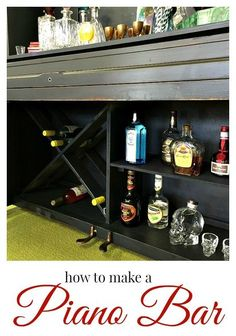 how to make a piano bar, diy, painted furniture, repurposing upcycling, woodworking projects