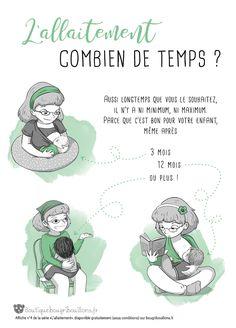 Affiche allaitement Bougribouillons - 4 Mystic Messenger Memes, Baby Education, Baby Time, Baby Hacks, New Words, Positive Attitude, Parenting Hacks, Montessori, Cute Babies