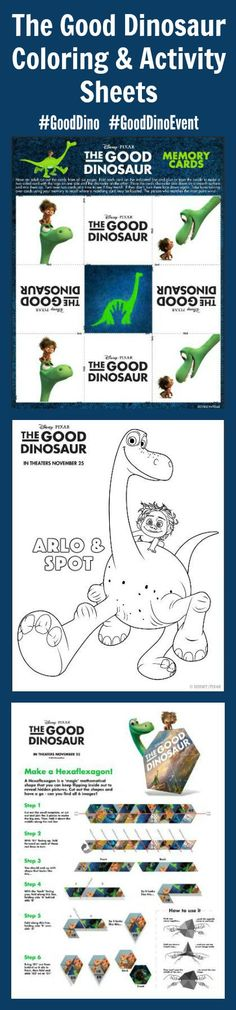 Get Ready for #GoodDinoEvent with THE GOOD DINOSAUR Coloring & Activity Sheets! ~ #GoodDino