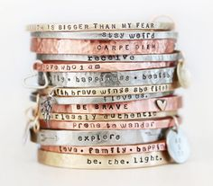 Gift / Gift for Her / ONE BlessingBand / Mantra Bangle by amywaltz