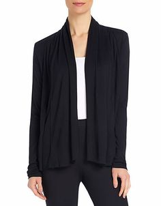 Draped Open-Front Cardigan | Lord and Taylor