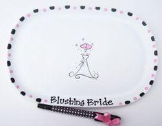 Ceramic Signature Plate for BRIDAL SHOWER Guest Book Alternative