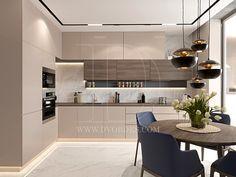 СЕЗОНЫ on Behance Kitchen Cupboard Designs, Kitchen Room Design, Modern Kitchen Design, Kitchen Layout, Home Decor Kitchen, Interior Design Kitchen, Kitchen Furniture, Kitchen Cabinets, Beige Kitchen
