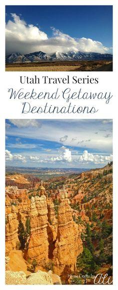 Utah Travel Series - Weekend Getaway Destinations. Follow this series for the best places to travel in Utah.