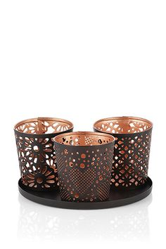 How about brightening up someone's mood today? Gift idea: stylish copper tealight holders by #Esprit