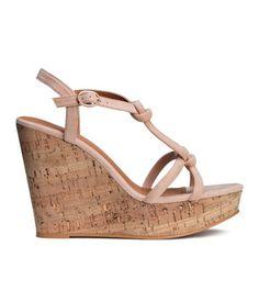 Sandaletten mit Keilabsatz | Puder | Ladies | H&M DE