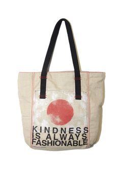 After Japan's devastating earthquake and tsunami, Rachel Roy partnered with GlobalGiving to create a tote with 100% of the net profits benefiting the relief fund. #Rachel Roy