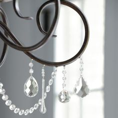 A little pricey but I love the idea of these magnetic crystals to add to my chandelier. Can I make my own? Hmm.