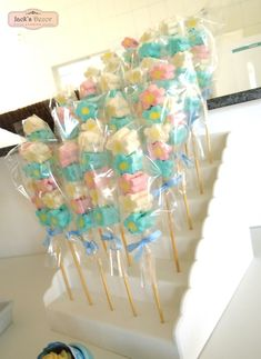 Pirulitos de marshmallows