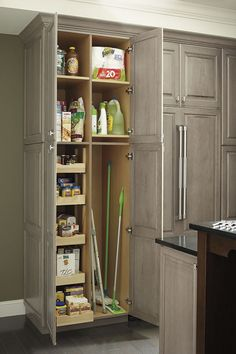 Make the most of tall cabinet storage with a utility cabinet combination that allows your to configure exactly to your needs.