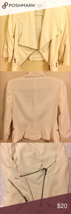 Cream Bebe Blazer, Size 2 Cream Bebe Blazer, Size 2. Gently used. bebe Jackets & Coats Blazers